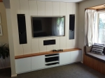 Entertainment Wall with Rimu Top