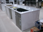 High Gloss White Kitchen Island