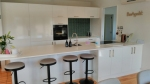 Kitchen with Acrylic Hi-Macs Benchtop